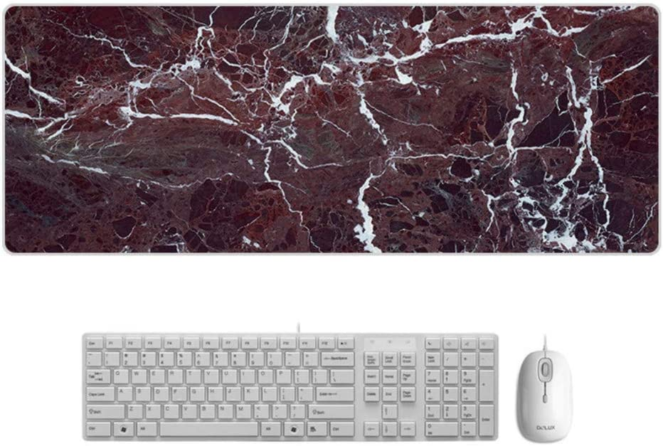 Large Padded Waterproof Non-Slip Keyboard Pad Exquisite Speed Game,900x400mmx5mm Fragmented Marble Style Desk Pad SLM-max Mouse Pad