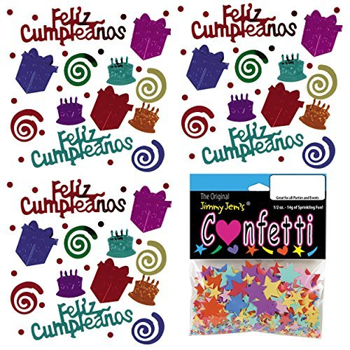 Amazon.com: Confetti MultiShape Birthday Blast Espanol Mix ...