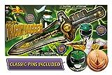 Bandai Saban's Mighty Morphin Power Rangers 2017 Legacy Edition Green Ranger Dragon Dagger with Helmet / Dragonzord Coin Pins
