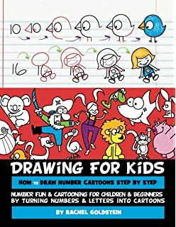 drawing for kids how to draw number cartoons step by step number fun cartooning