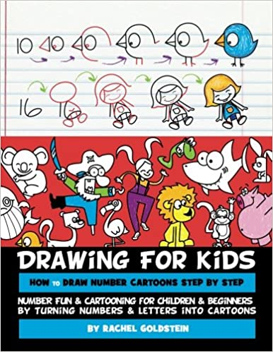 drawing for kids how to draw number cartoons step by step number fun cartooning for children beginners by turning numbers letters into cartoons