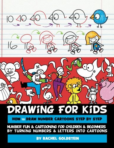 Price comparison product image Drawing for Kids How to Draw Number Cartoons Step by Step: Number Fun & Cartooning for Children & Beginners by Turning Numbers & Letters into Cartoons (Volume 3)