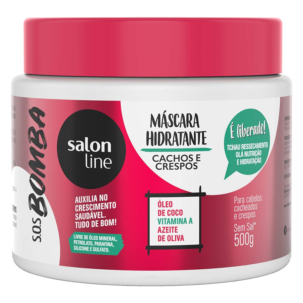 Amazon.com: Linha Tratamento (SOS Bomba de Vitaminas) Salon Line - Mascara Liberada Explosao De Revitalizacao 500 Gr - (SOS Vitamin Bomb Collection ...