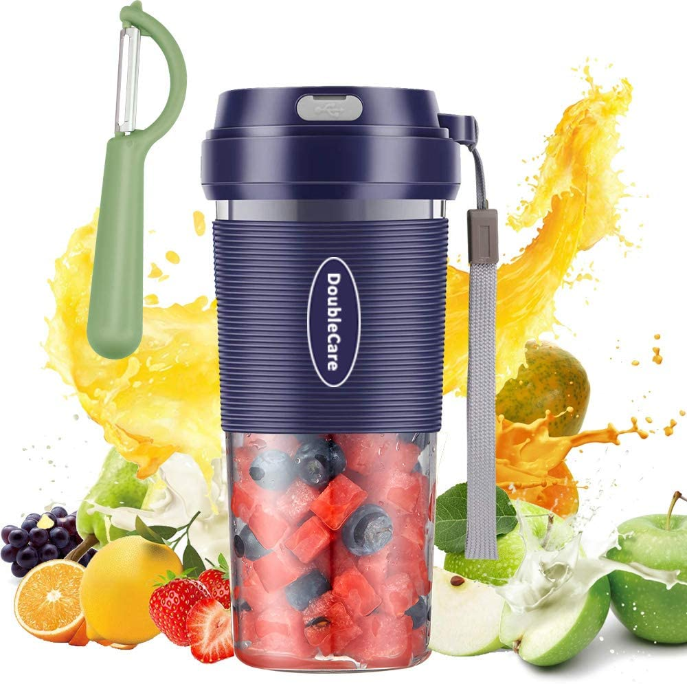 Portable Blender,Cordless Personal Blender Juicer,Mini Blender for Juice, Milkshake and Smoothie,Waterproof Smoothie Blender With USB Rechargeable,Bule