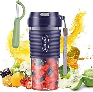 Portable Blender,Cordless Personal Blender Juicer,Mini Blender for Juice, Milkshake and Smoothie,Waterproof Smoothie Blender With USB Rechargeable,Bule
