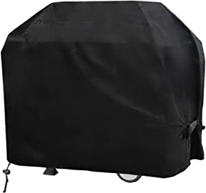 Grill Cover BBQ Cover 420D Thickened, 58 inch Gas Grill Cover Waterproof Fade Resistant and UV Protection Material , Durable, Fits Grills of Weber Char-Broil Nexgrill Jenn Air Brinkmann and More,Black