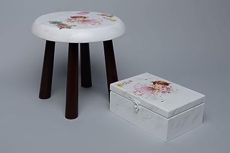 Sgabello in legno e decoupage jewelry box great gift idea by