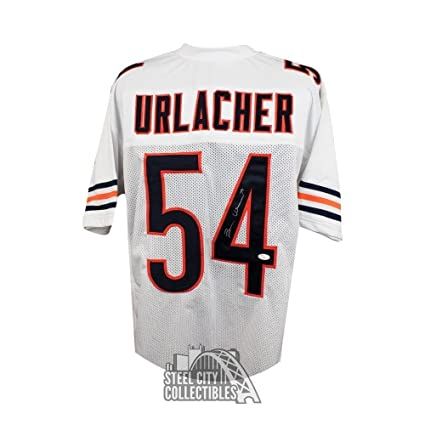 Image Unavailable. Image not available for. Color  Signed Brian Urlacher  Jersey - Custom White COA - JSA Certified - Autographed NFL Jerseys fd95dec14