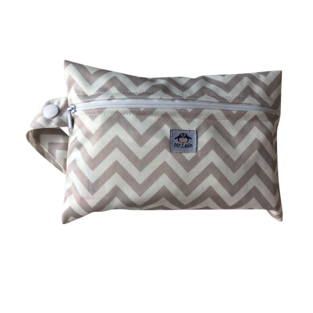 Mr. Leon praktische Nasstasche Wetbag geeignet als Drybag für Slipeinlagen oder Baby Windeltasche windelbeutel (Standart, Blau/Grün) Blau/Grün) Mr.Leon