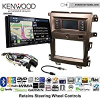 Volunteer Audio Kenwood Excelon DNX994S Double Din Radio Install Kit with GPS Navigation Apple CarPlay Android Auto Fits 2011-2014 Edge (Bronze)