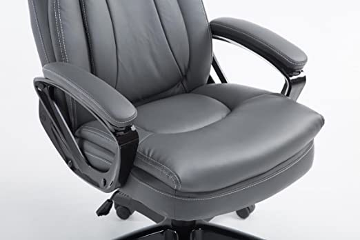 Bürosessel mit liegefunktion  CLP XXL executive office chair PLATON, faux leather cover, maximum ...