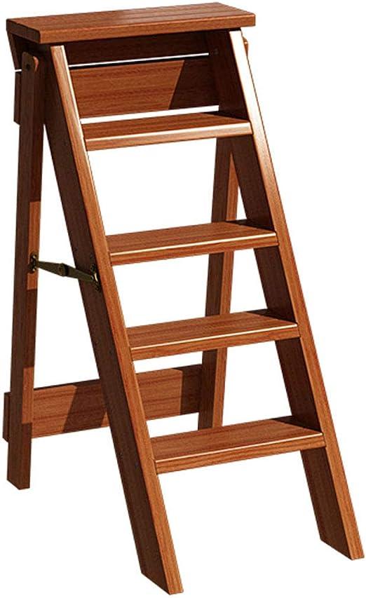 Escaleras con escalones Taburete con escalones Silla de escalera para el hogar Asientos con peldaños Escalera plegable Estante multifuncional ensanchado Taburete alto de caucho de doble uso Madera: Amazon.es: Hogar