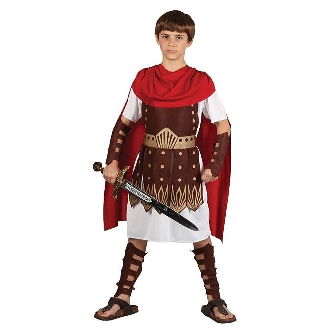 Traje del Disfraz del Partido de la Víspera de todos los Santos de muchachos Roman Gladiator Centurion 11/13 años (disfraz)