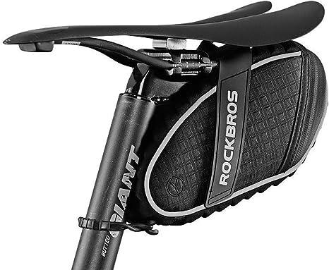 ROCKBROS Saddle Bag Cycling Bicycle Seat Pack Storage Bag Lightweight Reflective Saddle Bag for Mountain Road Bike