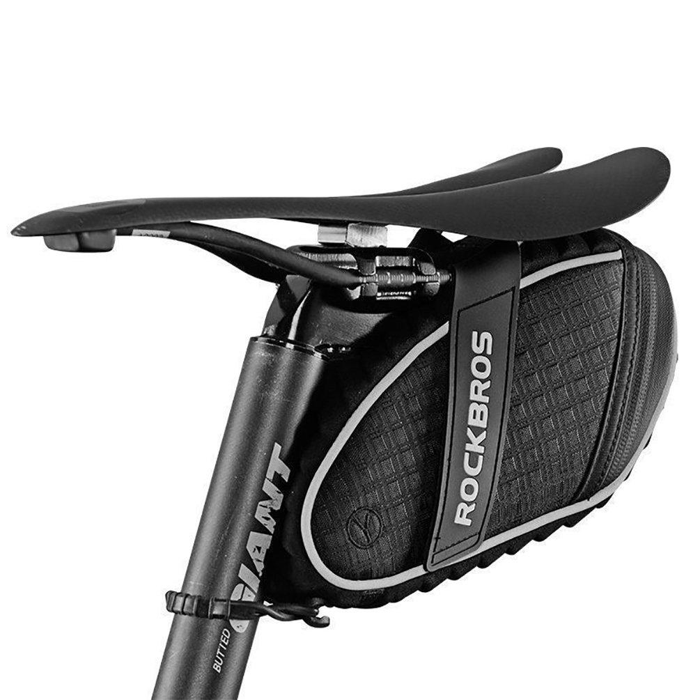 ROCKBROS Sillines De Bicicleta Alforjas Bolsos De Asiento Impermeable en lluvia ligera: Amazon.es: Deportes y aire libre