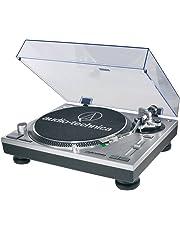 audio-technica-usb DIRECT-DRIVE Tornamesa profesional en plata, AT-LP120-USB mesa giratoria, Plateado, Una talla