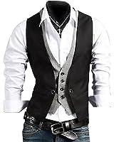 Casual Slim Fit Skinny Dress Vest Waistcoat