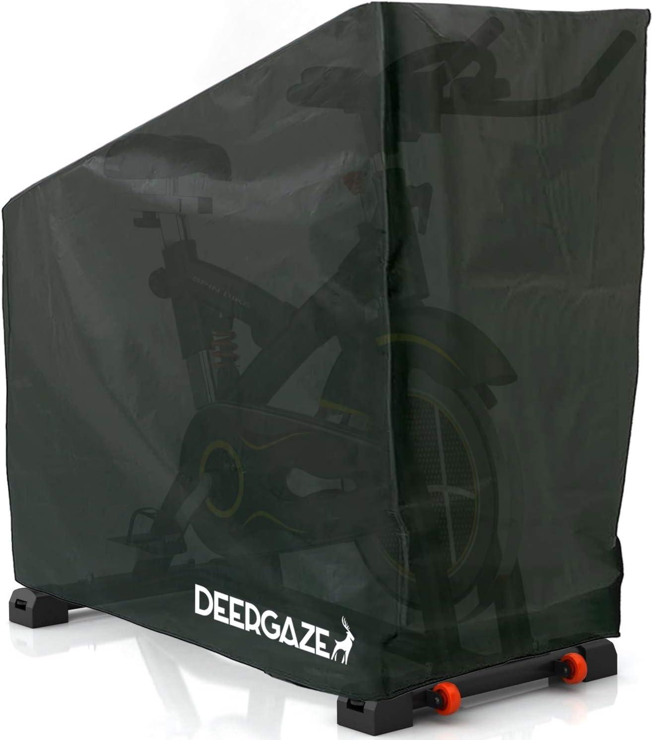 Cubierta Impermeable Protectora contra Lluvia Sol y Polvo. DEERGAZE Funda para Bicicleta Est/ática o de Spinning para Interior y Exterior