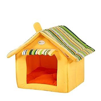 Fossrn Cama para Mascotas Perro Gatos Lavable Cama de Dormir - Forma casa (C)