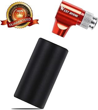 Westgirl - Mini bomba de CO2 para neumáticos de bicicleta, rojo: Amazon.es: Deportes y aire libre