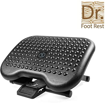 adjustable under desk ergonomic foot rest foldable abs footstool for office home. Black Bedroom Furniture Sets. Home Design Ideas