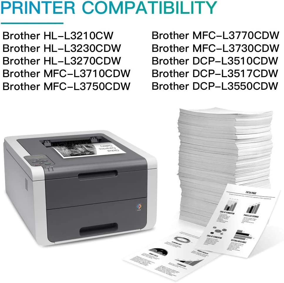 Do it Wiser 4 Cartouches de Toner Compatibles TN243 TN247 pour Brother HL-L3210CW HL-L3230CDW HL-L3270CDW MFC-L3710CDW MFC-L3750CDW MFC-L3770CDW MFC-L3730CDW DCP-L3510CDW DCP-L3517CDW DCP-L3550CDW
