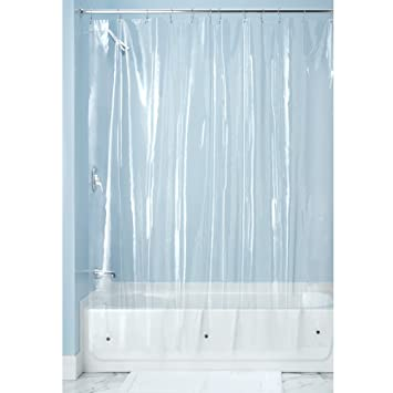 Shower Curtains can you wash plastic shower curtains : Amazon.com: InterDesign X-Long Shower Curtain Liner, Clear: Home ...