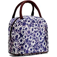 Chrysansmile Colorful Style Polyester Lunch Bag For Women (Blue Mum)