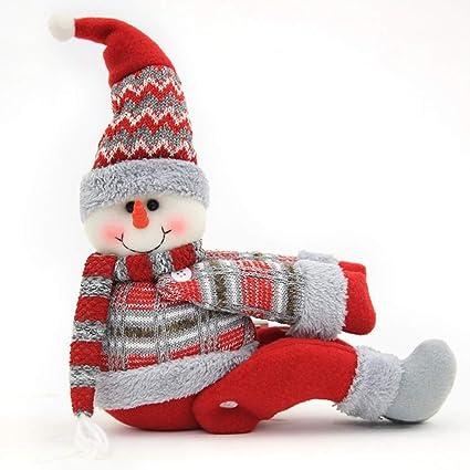 JUNMAONO Christmas Decoración, Hebilla de Cortina, Adornos de Santa, Ornamentos del Muñeco De