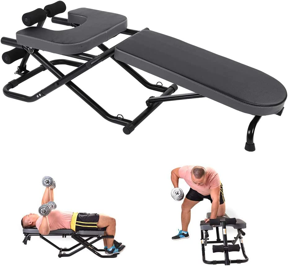 Entrenamiento de Manos Ejercicios para familias para Yoga Fitness Plegable Banco de Pesas multifunci/ón gimnasios Cocoarm