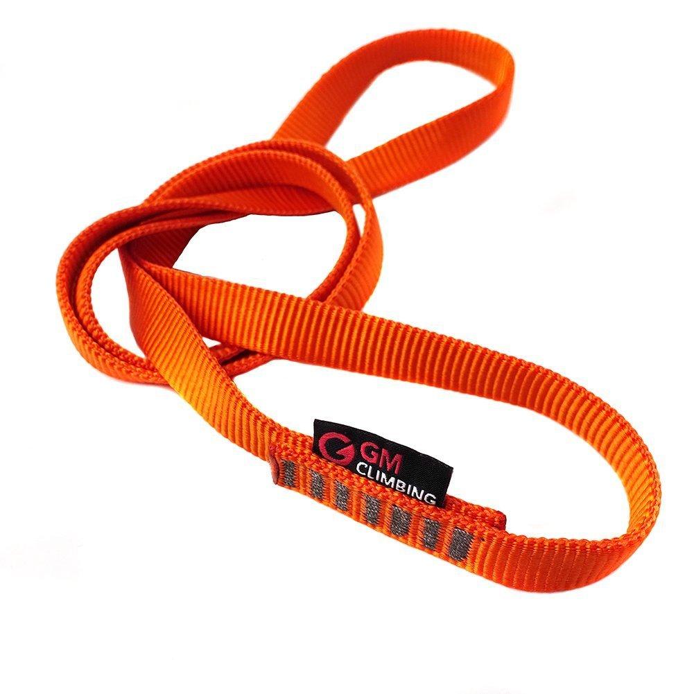 GM CLIMBING One Unit 16mm Nylon Sling Runner 120cm / 48inch (Fluorescent Orange)