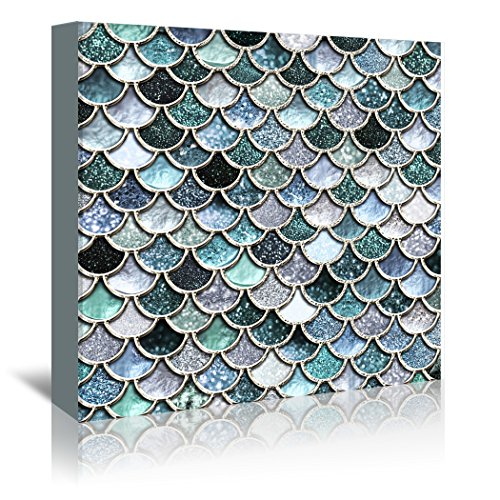 Americanflat Gallery Wrapped Canvas - Silver Mermaid Fish