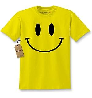 da5d2d7ff Amazon.com: Expression Tees Emoticon Big Smiley Face Youth T-Shirt ...