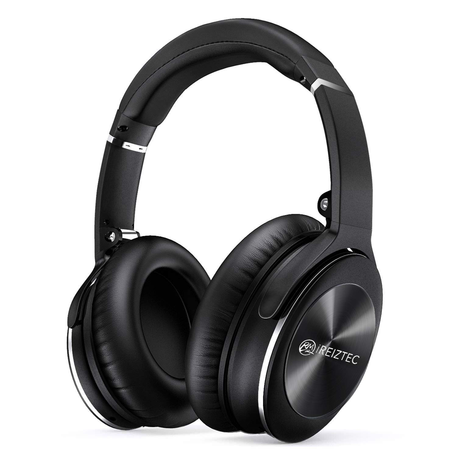 Bluetooth Wireless Headphones Over Ear Noise Cancelling Foldable Headset HI-FI Stereo Superior Deep Bass Headphones Comfortable Protein Earpads 30Hrs Playtime with Mic for PC/Cell Phone