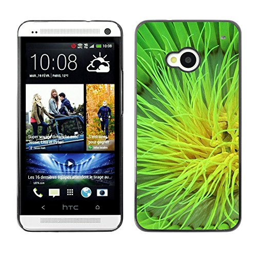 Soft Silicone Rubber Case Hard Cover Protective Accessory Compatible with HTC ONE M7 2013 - Plant Nature Forrest Flower 105