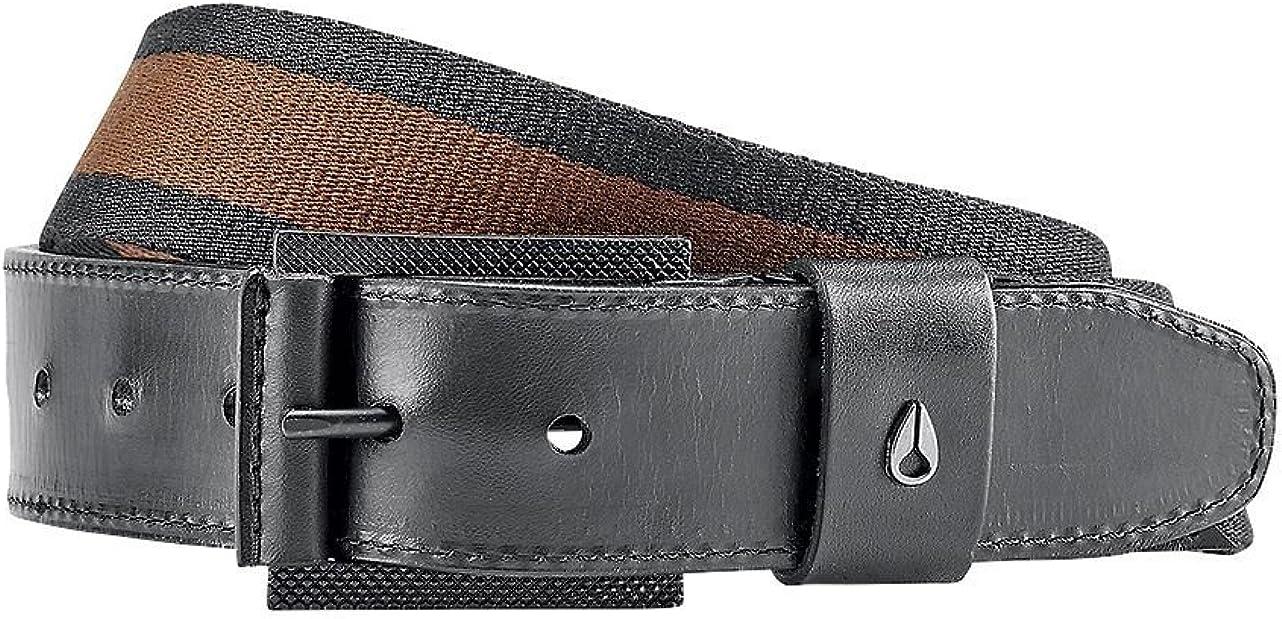 Nixon Americana Stripe Belt,Walnut