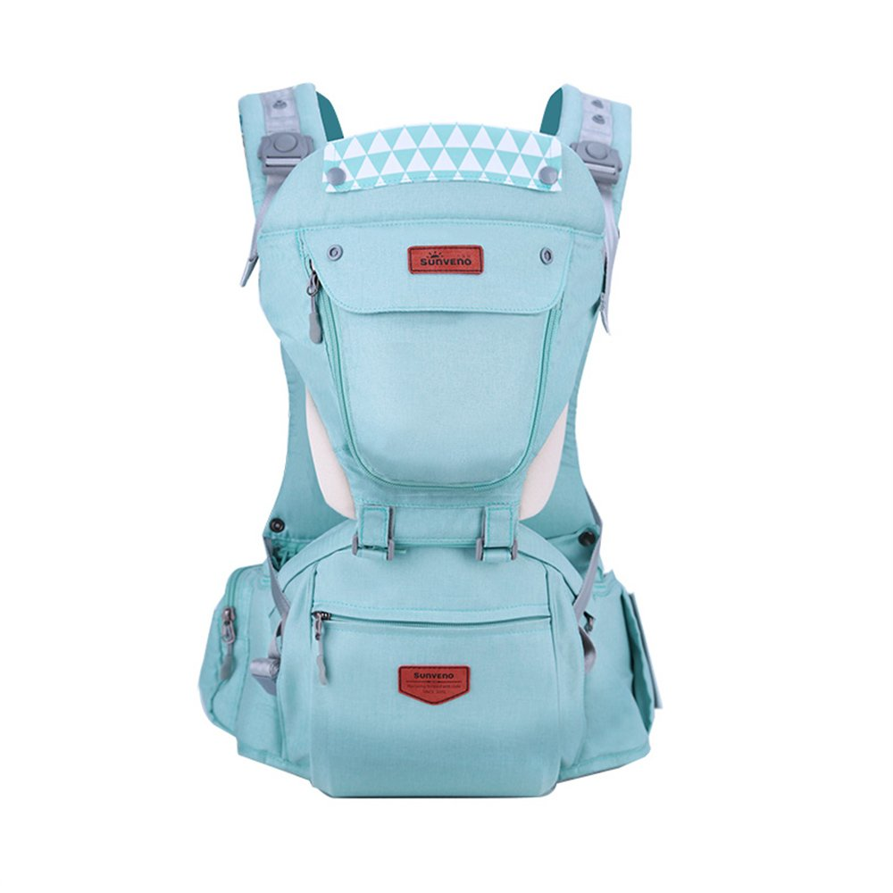SUNVENO Baby Hipseat Carrier Large Baby Carrier 3in1 Ergonomic Baby Hip seat for Outdoor Travel (Green) HC22094-HS