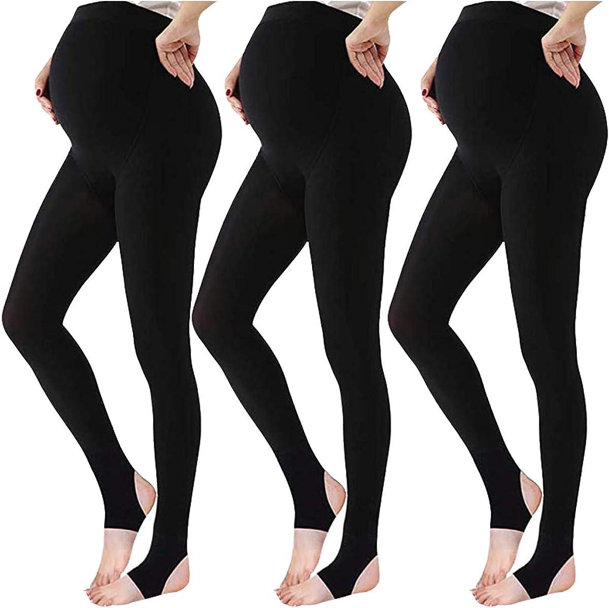LOVELYBOBO 3 Pieces Collant maternity calze premaman opache Maternity Tights Maternit/à Leggings la gravidanza Donna 320D
