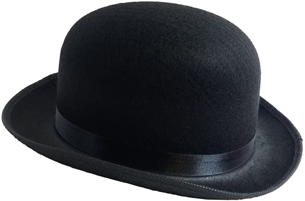Black Derby Deluxe Costume Hat by Funny Party Hats (Derby Hat)