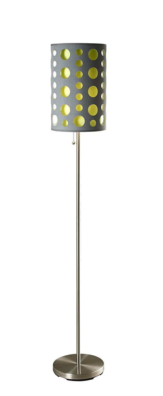 ORE International 9300F BK WH Modern Retro Floor Lamp, Black/White, 66  Inches     Amazon.com