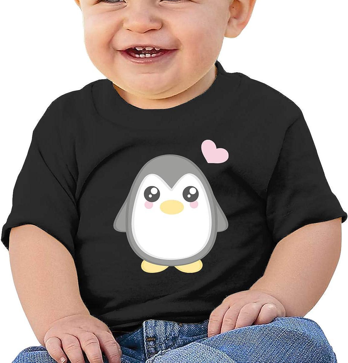 Negi Fat Cute Penguin Cotton Toddler Girls Shirt Short Sleeve