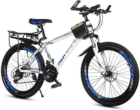 20 Pulgadas Suspensión Delantera Freno De Disco Doble Todoterreno Adultos De Velocidad Variable Bicicleta De Montaña,Azul: Amazon.es: Deportes y aire libre