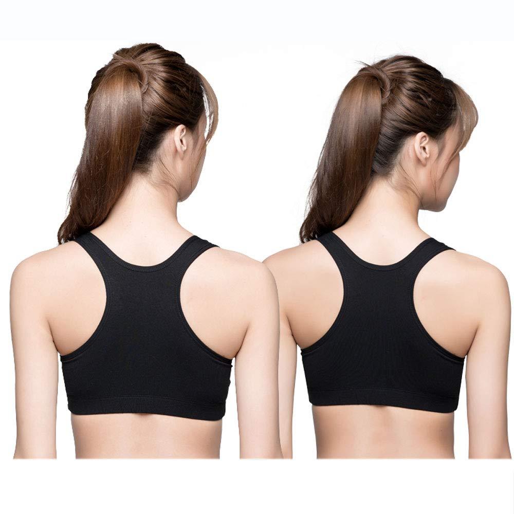 Black(2)+Black(2) Women Sports Bras  High Impact Workout Gym Activewear Bra