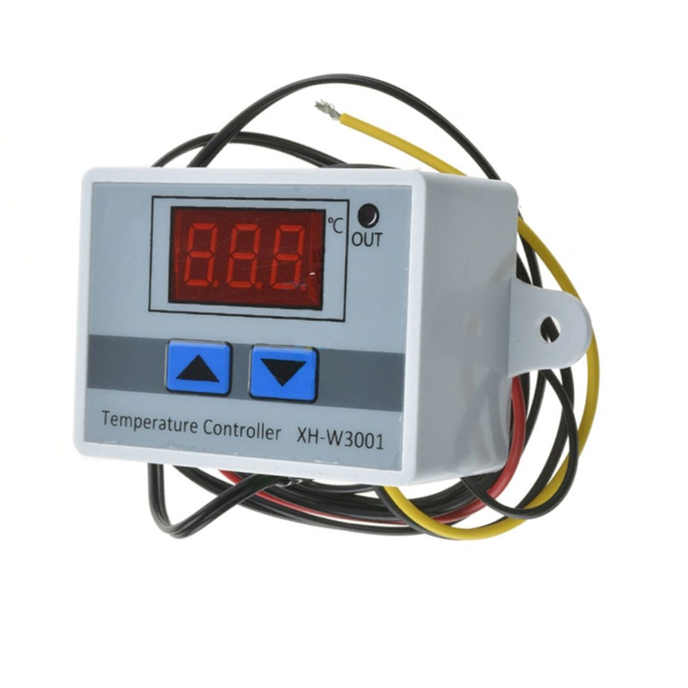 Kkmoon Xh W3001 Digital Led Pre Wire Cool Hot Temperature Controller Mains Voltage Thermostat With 2 Connection Earth Control Switch Probe Sensor 220v 24v 12v Diy Tools