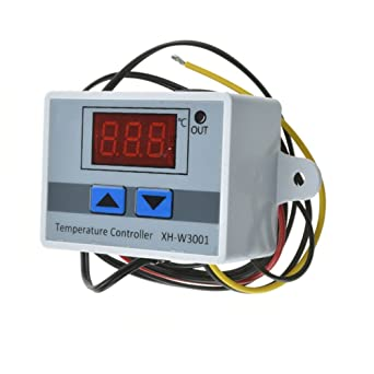 AC//DC 24V 10A W3001 LED Temperature Controller Thermostat Control Switch Probe