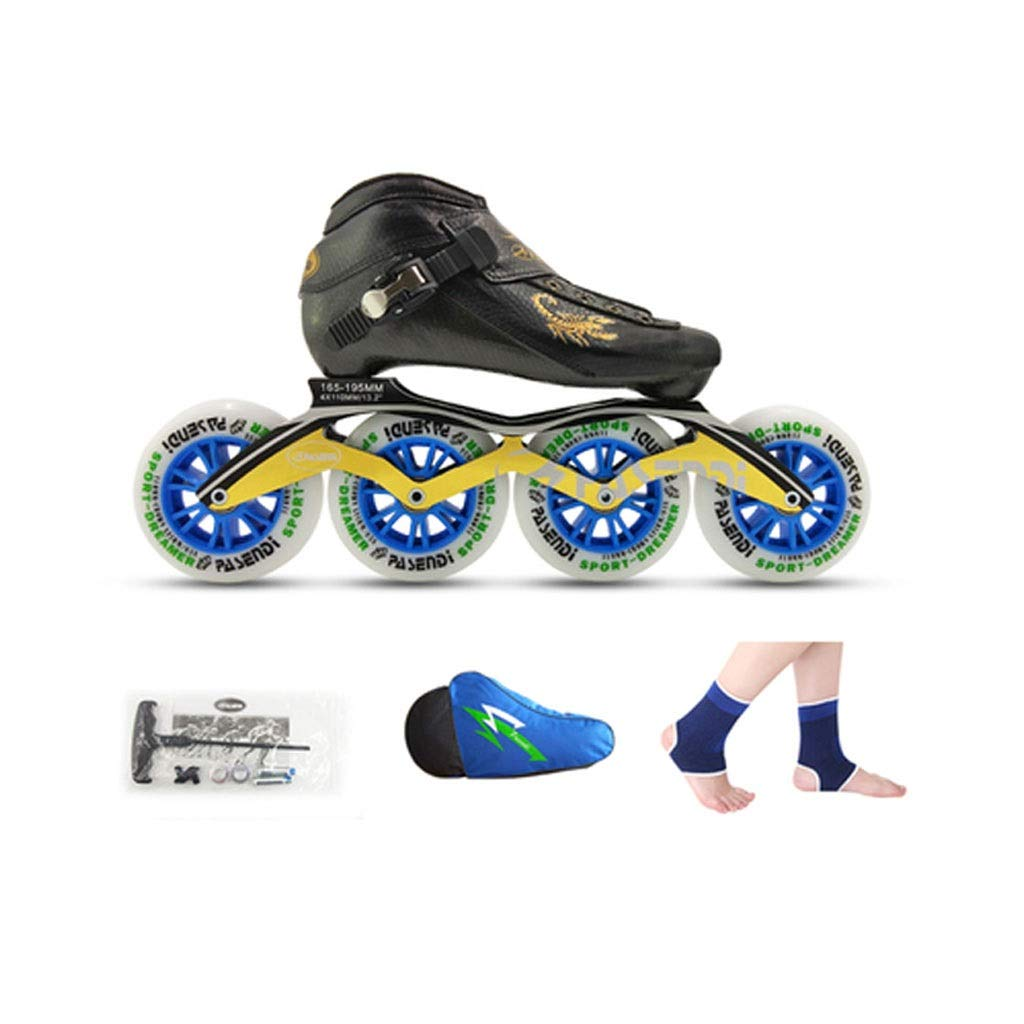 Ailj Inline Skates, 4X90MM-110MM Hochelastisches PU-Rad Kind Erwachsener Professionelle Einreihige Schlittschuhe 4 Farben B07Q4VBW4S Inline-Skates Hohe Qualität und geringer Aufwand