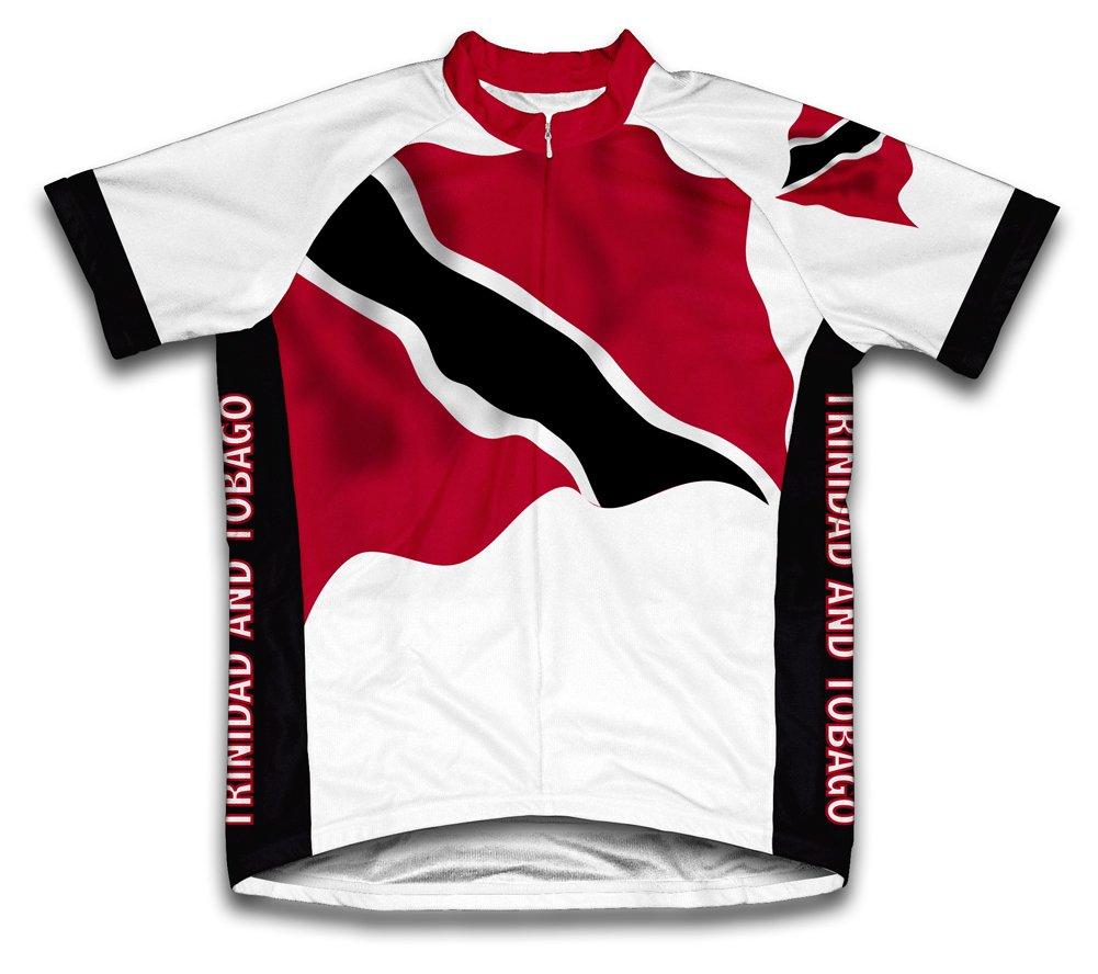 Trinidad et Tobago drapeau Maillot de cyclisme à manches courtes pour femme Large Blanc - blanc   B00EDKSIWU