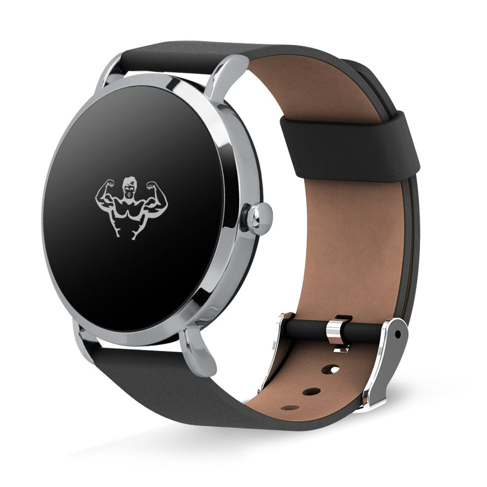 ... Podómetro Ritmo cardíaco y monitor de sueño Led Impermeable Llame y masaje recordatorio, Correa de cuero-A 20x20cm(8x8inch): Amazon.es: Relojes