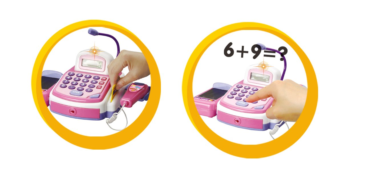 CifToys Cashier Toy Cash Register Playset | Pretend Play Set for Kids | Colorful Children's Supermarket Checkout Toy with Microphone & Sounds | Ideal Gift for Toddlers & Pre-Schoolers by CifToys (Image #9)