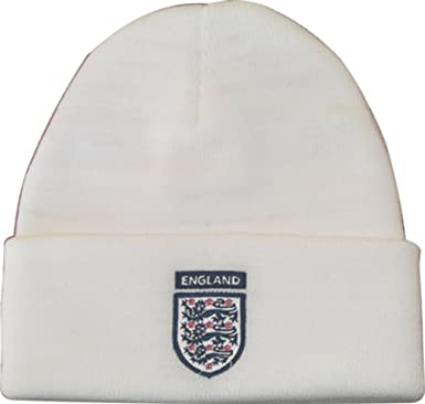b3b8a727a26 Official FA ENGLAND BEANIE HAT MERCHANDISE WOOLIE HAT  Amazon.co.uk   Clothing